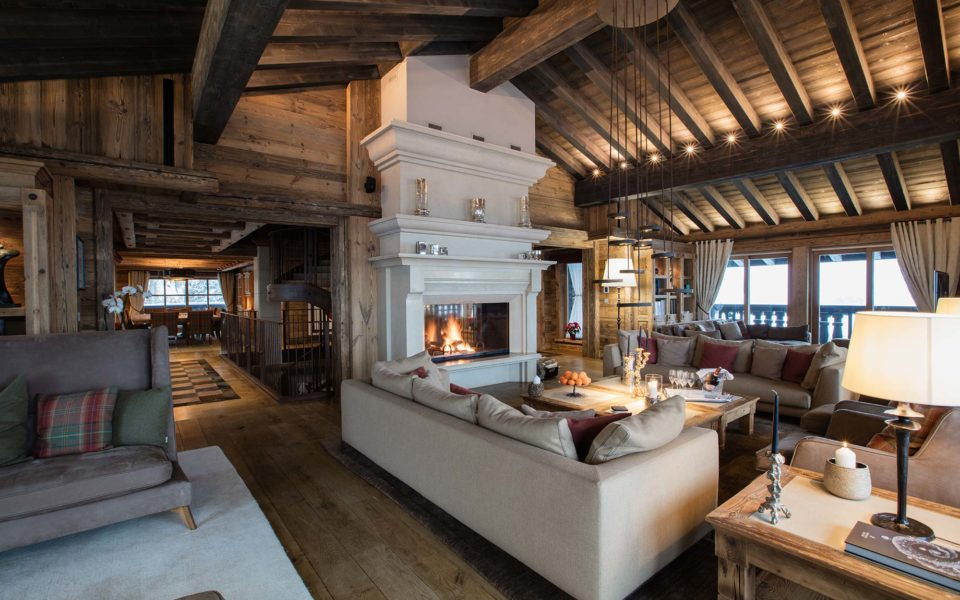 Picture of the living room of the luxurous Edelweiss chalet